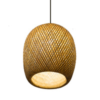 Chinese style pendant lamp bamboo art bamboo weaves pastoral restaurant bedroom balcony Japanese lantern tatami lamp