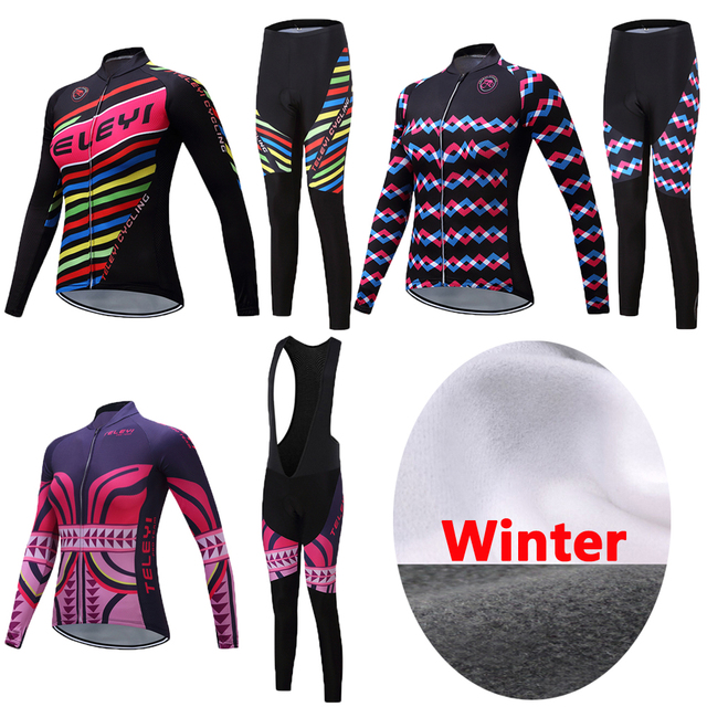 Best Offers Women 2018 China Pro Team Winter Thermal Fleece Cycling Jersey  TELEYI Bike Clothing Funny e61995f37