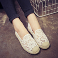 Dropshipping 2 Colors EUR size 35-40 Lady Fashion Flat Shoes Elegant Woman's Pure Color Cut-Out Lady Fisher Comfort Shoe B073