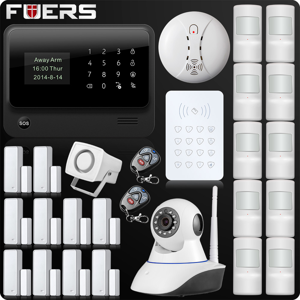 Wireless WiFi GSM GPRS SMS Home Security Alarm System LCD ISO Android App Control Pet Immune Pet Detector Password Keypad поводок hoxwell hl92
