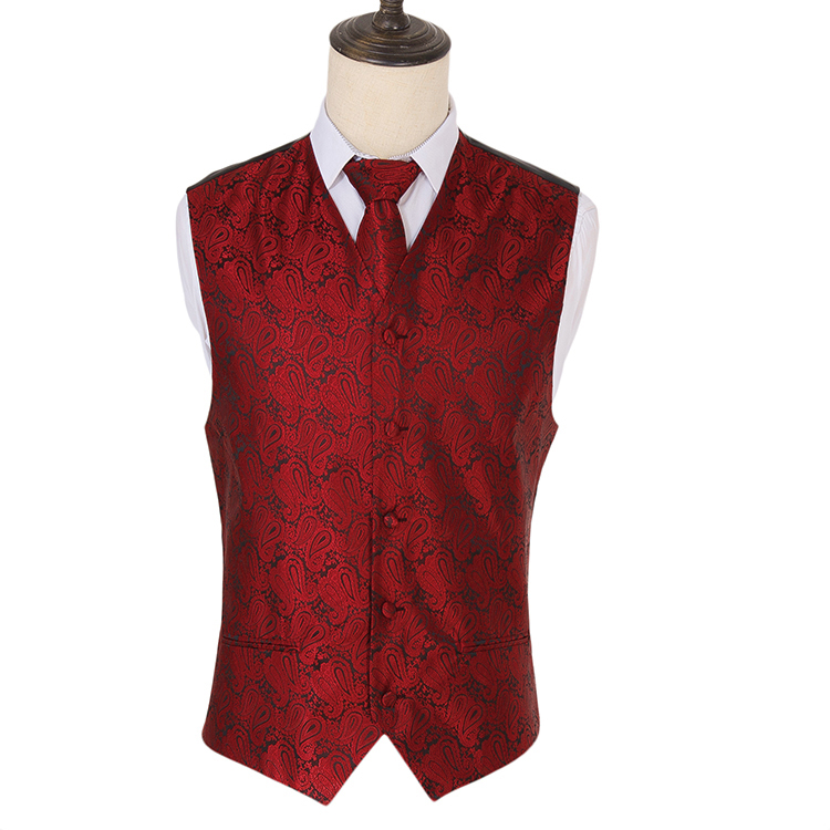 New Men/'s Formal Vest Tuxedo Waistcoat/_necktie set paisley yellow wedding prom