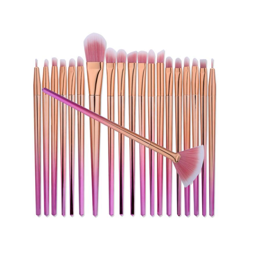 GUJHUI 20 Pcs Premiuim Makeup Brush Set High Quality Soft Taklon Hair Professional Makeup Artist Brush