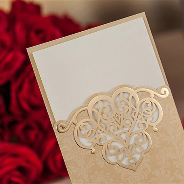 Gold Wedding Card