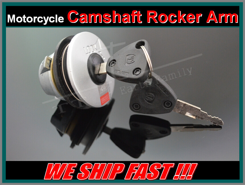 Free Shipping Motorcycle Parts Petrol Gas Fuel Tank Cap Lock With 2 pcs Keys Tank Cover Switch For Yamaha ZY125