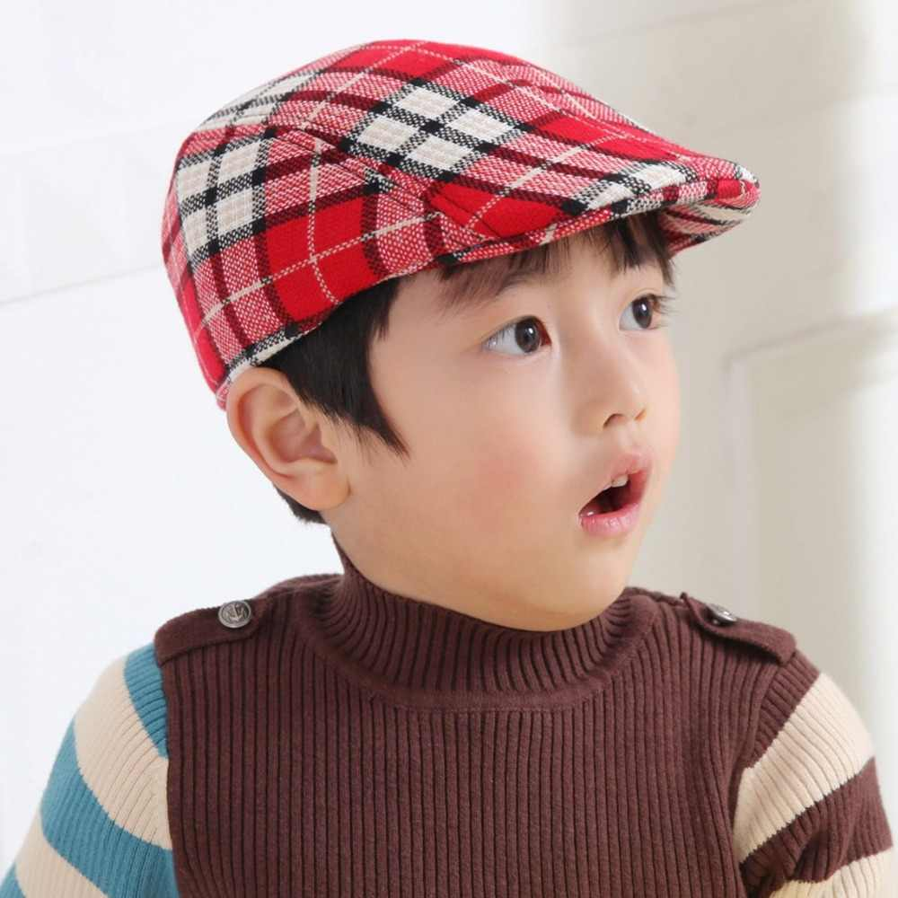 a5175f95ce637 Children grid Beret baby cotton beanie Exclusive Design hat Funny Cap take  home outfit Accessories Kids