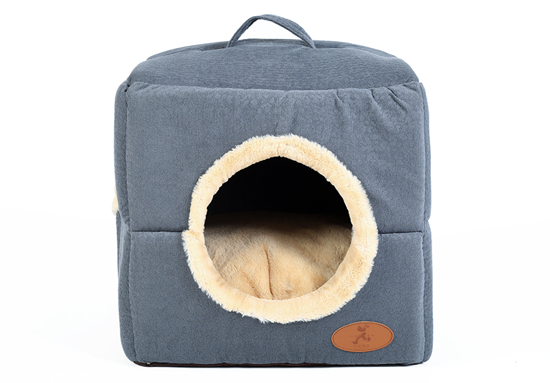 Hoopet New Washable Pets Cat House Cozy Cave Warm Soft Cave Bed Portable Hammock Sleeping Bed for Cat All Seasons (8)