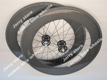 700C carbon track bike wheels 88mm deep,fixed gear single speed tubular wheelset