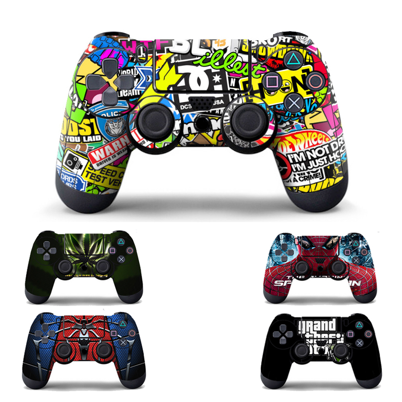 Bomb Graffiti Vinyl Skin Sticker for PS4 Wireless Controller Gamepad Protective Cover Decal for Playstation 4 Controle Joystick