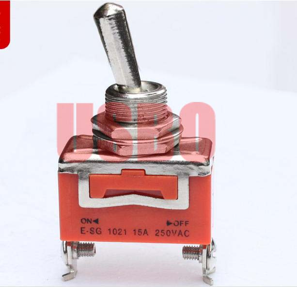 10PCS 15A 250V 2-Pin Toggle Switch ON-OFF