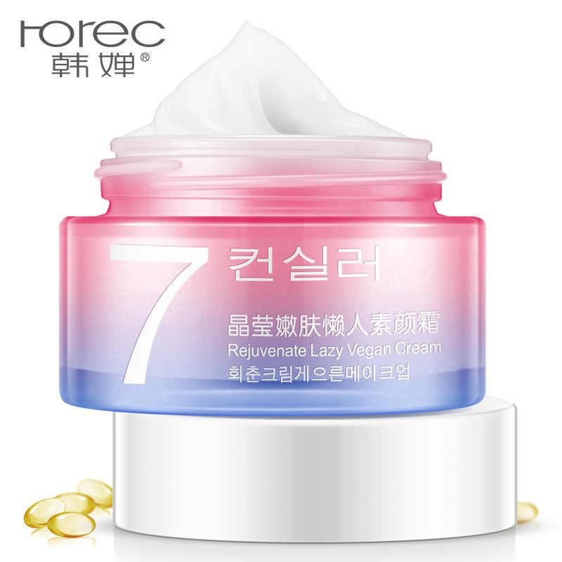 ROREC V7 كسول عارية المكياج كريم وجه كريم تبييض ترطيب النفط السيطرة المخفي غير مرئية المسام السلس الجلد الجمال