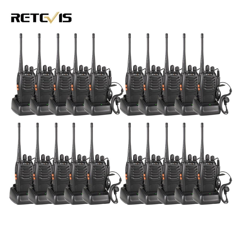 20 pz Walkie Talkie Retevis H777 3 w UHF 400-470 mhz Palmare Radio Portatile Ham Radio Hf strumento di Comunicazione ricetrasmettitore