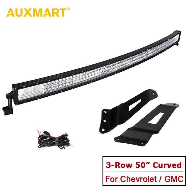 Auxmart 50 curved led light bar 3 row cree chips combo driving auxmart 50 curved led light bar 3 row cree chips combo driving light bar aloadofball Image collections