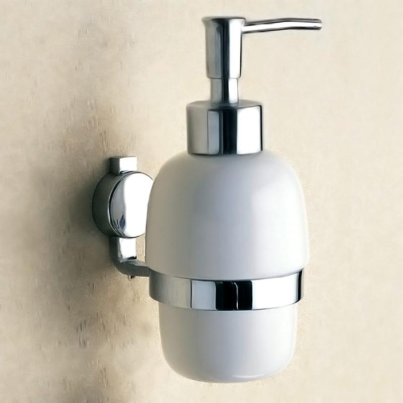 Liquid Soap Dispenser Wall Mounted Brass Detergent Shampoo
