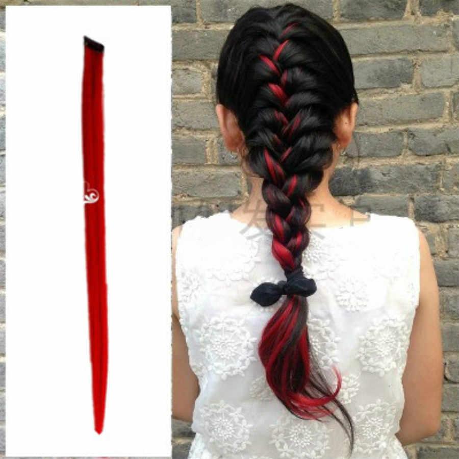 1 Pcs Fashion Red Gradient Rambut 12 Warna Rambut Klip Rambut Sisir Pin Jepit Rambut Bulang Aksesoris Kecantikan Alat Penata Rambut