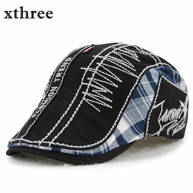 a7eaf2c13257d Gorra de visores de boina de moda al por mayor Xthree para hombres y  mujeres gorra