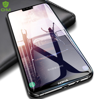 Original CHYI for Nokia 6 x6 2018 full glue glass scratches-proof nokia 7 plus screen protector covered edge glass for Nokia 8 nokia 8 new 2018