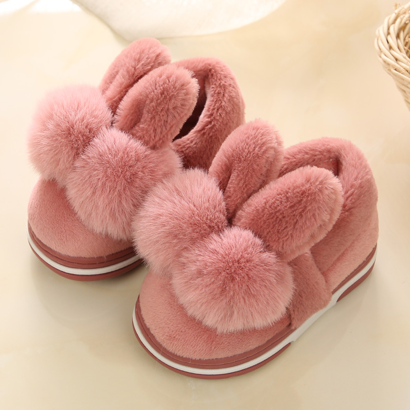 Kids Baby Girls Home Shoes Autumn/winter Princess Children Cotton Slippers Boys Indoor Shoes Thicken Warm Non-slip Soft Slippers