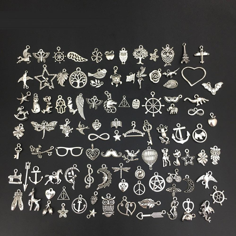 Vintage Mixed 10/20pcs Metal Animal Birds Charms Beads Handmade DIY For Bracelet Pendant Neacklace Clips Jewelry Making Findings