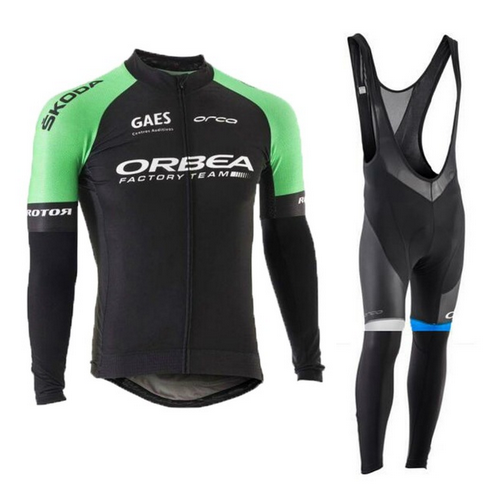 Orbea 2017 Cycling Jerseys Thin Long Sleeves Cycling Set Ropa Ciclismo Bike MTB Clothing Pants Suit 9D Gel Pad T352