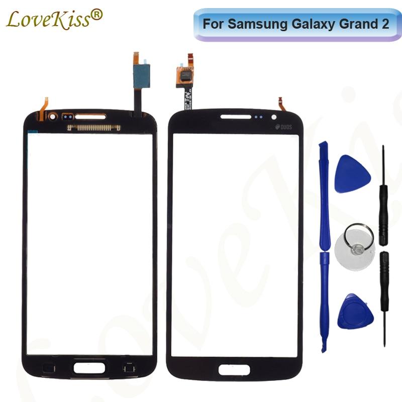 Передняя панель для Samsung Galaxy Grand 2 G7102 G7105 Grand2 DUOS G7106 сенсорный экран ЖК-дисплей дигитайзер Стекло Замена