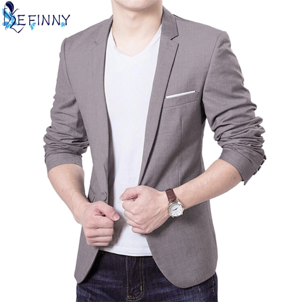 2018 Fashion Men Suits Jacket Casaco Terno Masculino Suit Classic Cardigan Jaqueta Wedding Suits Jacket CN Size S-6XL 4 Colors