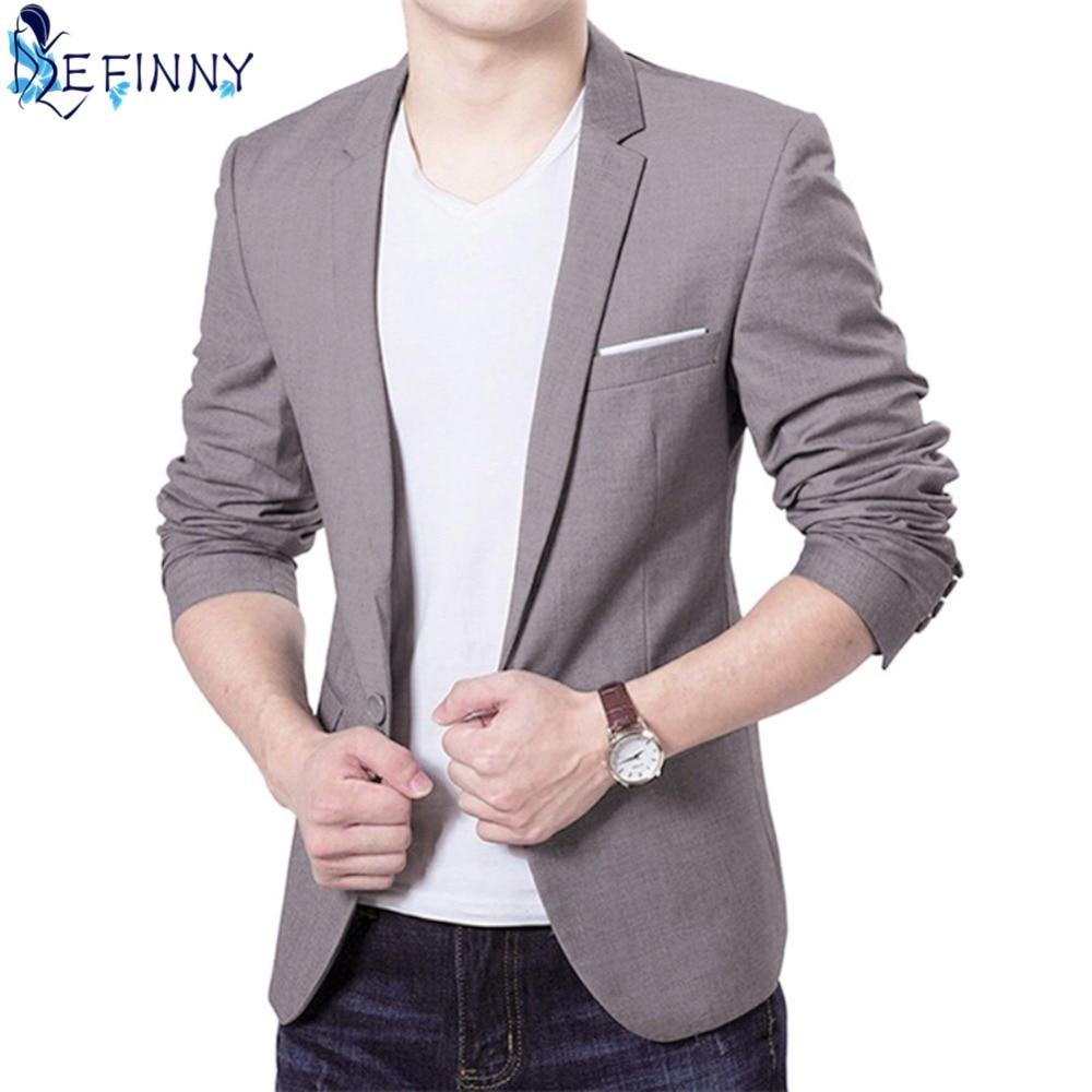 2018 Fashion Men Suits Jacket Casaco Terno Masculino Suit Classic Cardigan Jaqueta Wedding Suits Jacket CN Size S-6XL 4 Colors