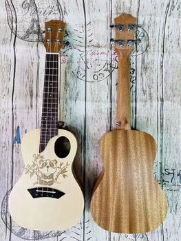 23-inch new carved and durable UK, ukulele Hawaii 4 string guitar pull