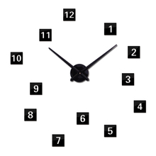 2015 New Hot Sale Stickers Wall Clock Clocks Watch Diy Acrylic Mirror Large Home Decoration Quartz Living Room Circular Needle