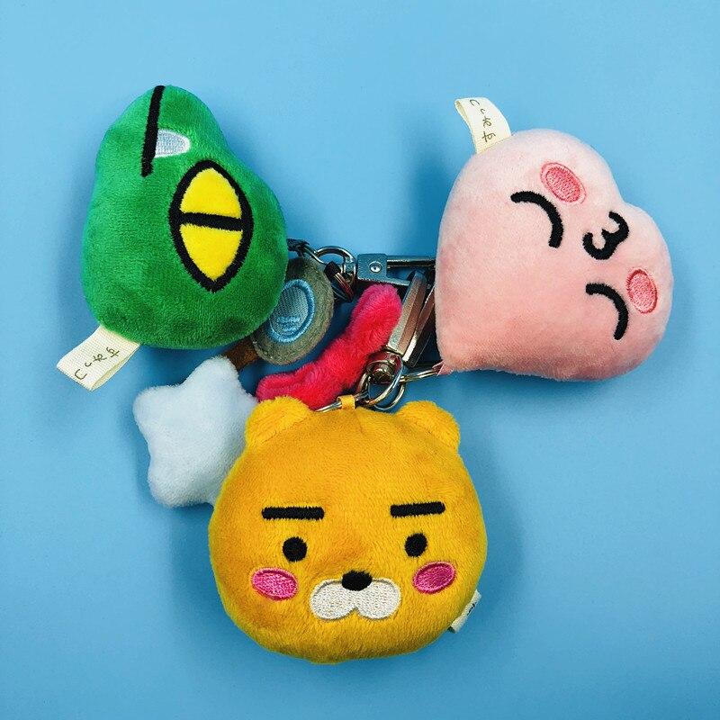 6 Cm Korea Kkao Freunde Apeach/con/muzi Anime Plüsch Puppen Ornament Puppe Kette Anhänger Nette Cartoon Spielzeug Geschenke Moderater Preis Stofftiere & Plüsch