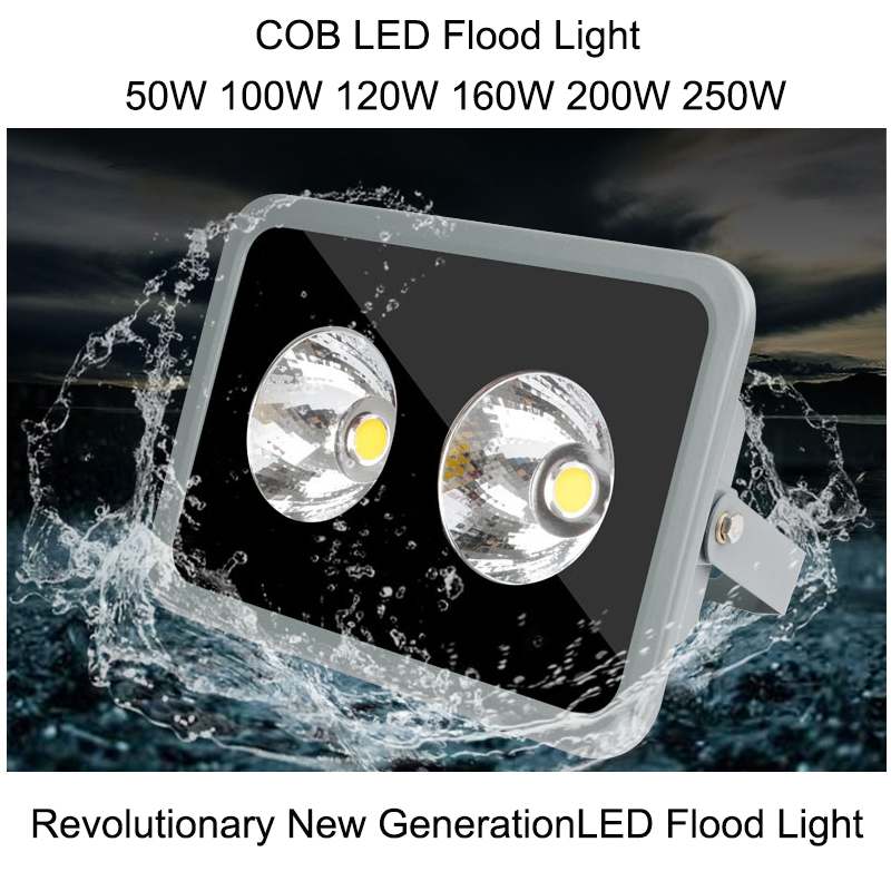 COB Led Flood Light 50W 100W 120W 160W 200W 250W IP67 LED Outdoor Lighting Garden Shed Waterproof Led Outdoor Floodlight ultrathin led flood light 200w ac85 265v waterproof ip65 floodlight spotlight outdoor lighting free shipping