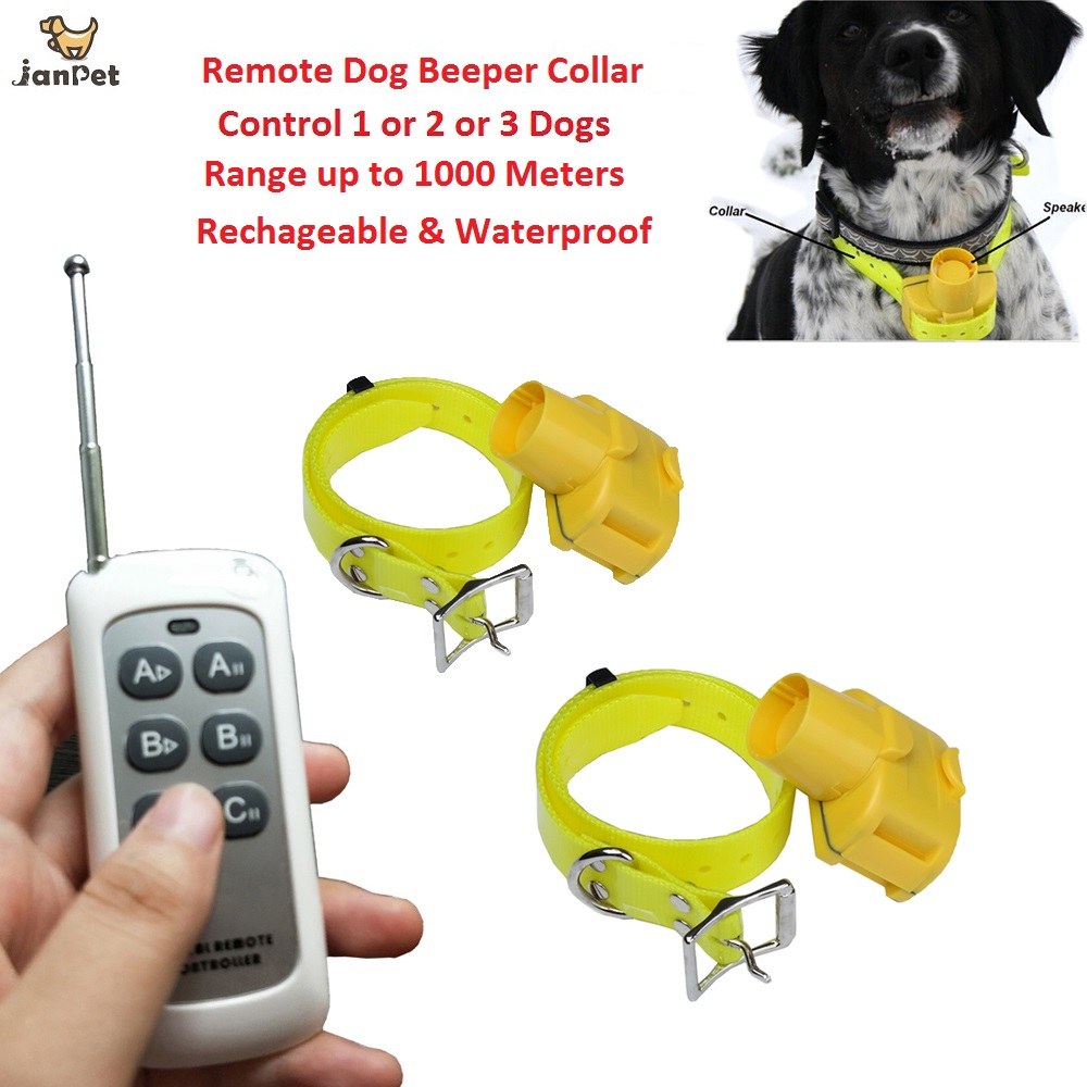 Waterproof Hunting Sound Dog Beeper Collars 1000 Remote Control Dog Training Collar Rechargeable Dog Tracking Collar Собака