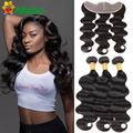 Brazilian Body Wave With Closure 13x4 Ear To Ear Lace Frontal Closure With Bundles Grace Amazing Luxy Unice Hair Company