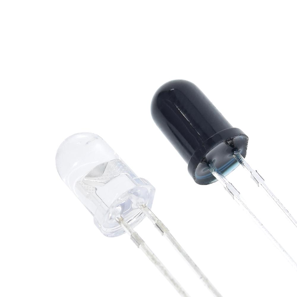 10pcs 5mm 940nm LEDs infrared emitter and IR receiver diode 5pairs diodes