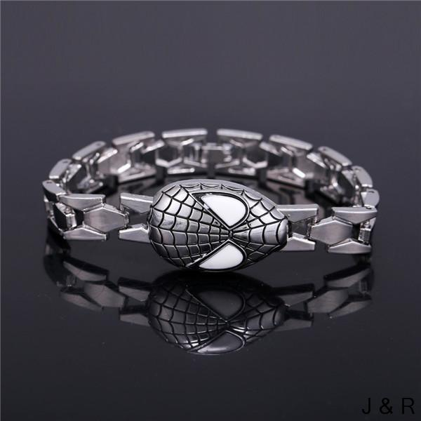 Superhero Spidermen Alloy Mask Bracelets & Bangles