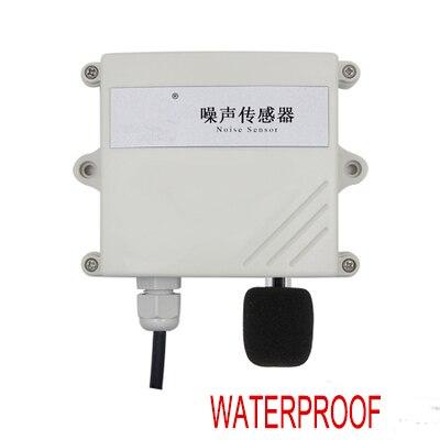 Livraison gratuite 1 pc haute précision surveillance en ligne capteur de bruit transmetteur Rs485 modbus RTU capteur de bruit étanche