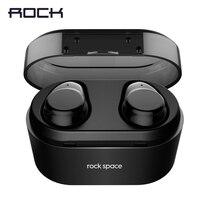 TWS Bluetooth 4 2 Earphone ROCK Space Series Sports Wireless In Ear Stereo Earbuds Earphones With