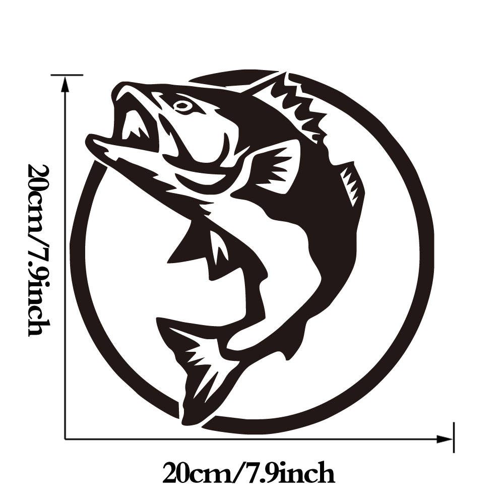 DCTOP Fishing Hunting Wall Stickers Home Decor Computer Sticker Fish Removable Vinyl Art Wall Murals Waterproof in Wall Stickers from Home Garden