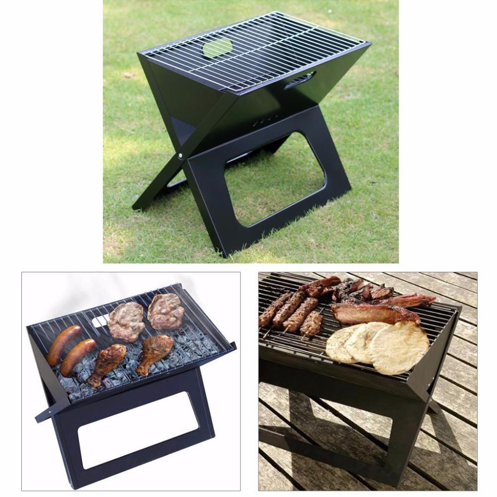 Foldable charcoal grill V Type Folding Portable Outdoor ...