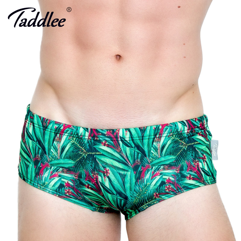 7a3cf96721 Taddlee Brand Sexy Men's Swimwear Basic Swim Boxer Briefs 3D Printed Bikini Men  Swimsuits Gay Low Waist Surf Board Trunks Gay