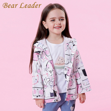 Bear Leader Girls Coats and Jackets Kids 2017 Autumn Brand Children for Girls Clothes Cartoon Cat Outerwear Hooded kids clothes