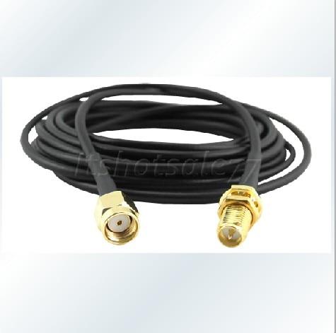 Antenna kábel 3M kábel RP-SMA csatlakozó RP-SMA aljzathoz adapter - Kommunikációs berendezések