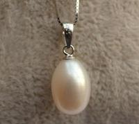 2018 Perfect Europe Natural Pearl Jewellery,100% Naural Pearl Necklace,AA 8 9MM,925 Sterling Silver Necklace ,Mom Jewelry