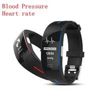 Best Blood Pressure Smart Bracelet Heart Rate Tracker Sport Fitness Clock Bluetooth for iPhone Samsung Huawei Xiaomi PK Miband 3