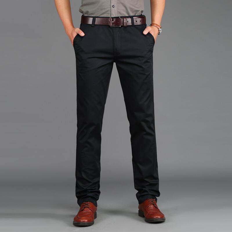 2019 tavaszi alkalmi férfi nadrág vékony nadrág Slim Fit 97% - Férfi ruházat - Fénykép 4