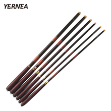 Yernea Red Telescopic Fishing Rod Carbon Fiber Fishing Pole Ultra-light Carp Rod 3.0M 3.6M 4.5M 5.4M 6.3M 7.2M Fishing Spinning