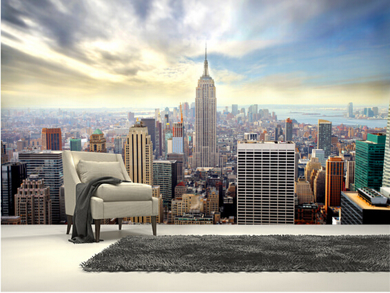 Custom Photo Wallpaper Manhattan Skyline Murals For Apartments Residential Office Background Wall Waterproof