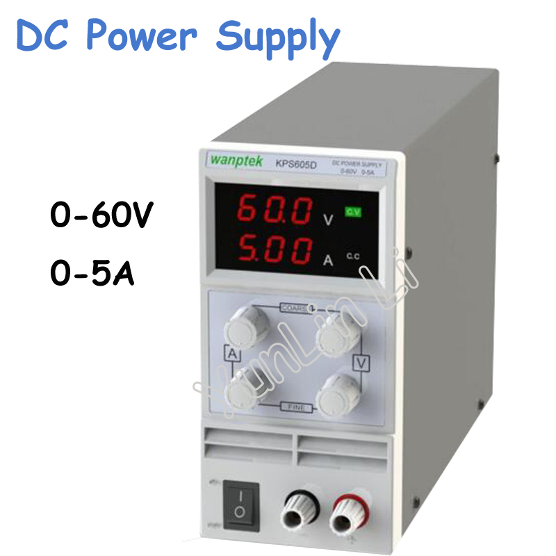 Mini Switching DC Power Supply 60V 5A Single Channel Adjustable SMPS Digital 0.1V 0.01A KPS605D newest mini switching dc power supply kps605d 60v 5a single channel adjustable smps digital 0 1v 0 01a dc power supply