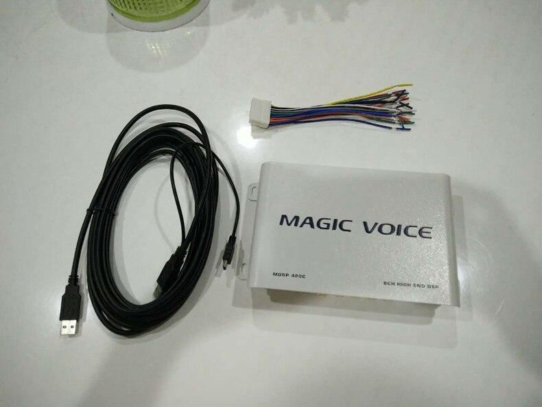 Voiture Mini Digital Sound Processor Amplificateur Avec DSP Classe AB 2 entrée 8 sortie Amplificateur Automobile