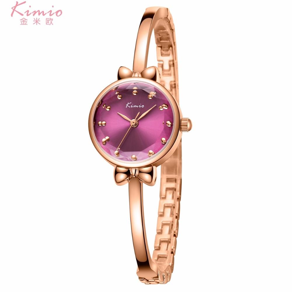 Kimio luxe vrouwen horloge beroemde merk gouden mode-ontwerp armband - Dameshorloges