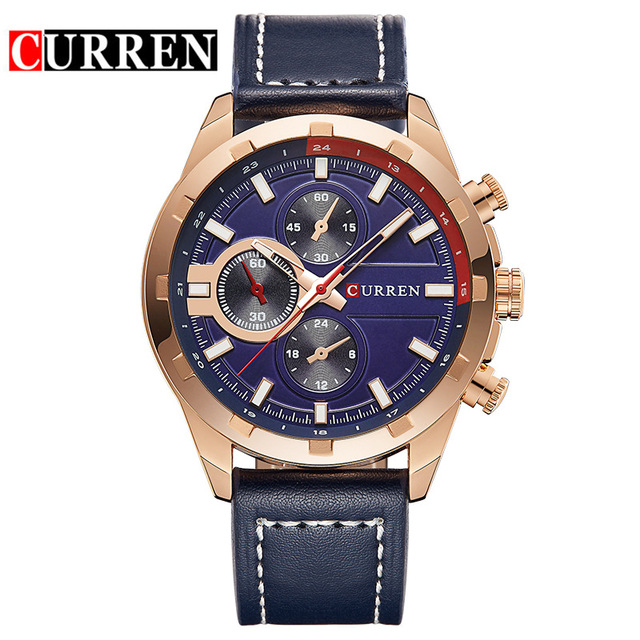 CURREN luxury top brand new fashion casual sport man male clock military business band wrist quartz watch Relogio Masculino 8216 2017 new top fashion time limited relogio masculino mans watches sale sport watch blacl waterproof case quartz man wristwatches